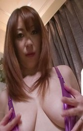 Hot Asian Mom Porn Videos - Araki Hitomi Asian fucks herself with vibrator through crotchless