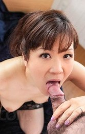 Milf Asian Handjob - Ichika Asagiri Asian licks and sucks penis she rubs with boobs