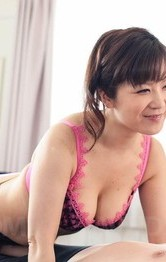 Asian Mom Bikini - Ichika Asagiri Asian licks and sucks penis she rubs with boobs