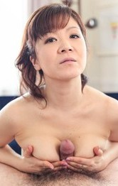 Asian Milf Teen Porn - Ichika Asagiri Asian licks and sucks penis she rubs with boobs