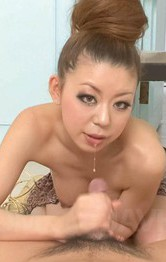 Asian Milf Cum Porn - Ryuu Narushima gets dick after dick to stroke and sucks till cum