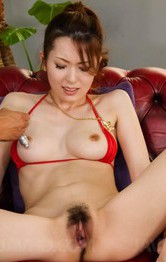 Asian Milf Facial Porn - Yui Hatano in red lingerie is fucked with vibrators and gets cum