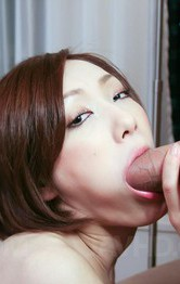 Asian Mature Mom - Nene Iino Asian gives blowjob with such provocative attitude