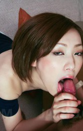 Top Asian Milf Porn Models - Nene Iino Asian gives blowjob with such provocative attitude
