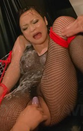Milf Asian Stockings - Yuu Haruka is fucked in asshole and in wet crack with vibrator