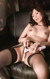 Milf Asian - Manami Komukai Asian in stockings gets orgasms from vibrator