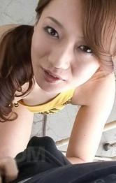 Milf Japanese Public Sex - Kazumi Nanase Asian licks, masturbates and sucks joystick so well
