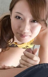 Milf Japanese Cum - Kazumi Nanase Asian licks, masturbates and sucks joystick so well