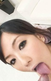 Japanese Mom Son - Manami Komukai Asian in bath suit plays with tongue on tool head