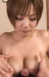Asian Mom Bikini - Meguru Kosaka Asian sucks boner and rubs it between fine boobies