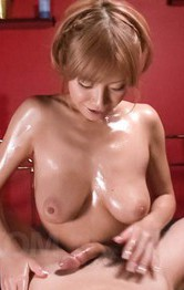 Asian Momcategories - Sumire Matsu rubs dong with oiled cock till gets cum on them
