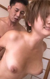 Milf Asian - Meguru Kosaka Asian is fingered in shaved pussy by dick she sucks