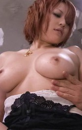 Milf Japanese Outdoor - SARA Asian with nasty hooters licks boner and rides it on and on