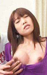 Asian Milf Feet Porn - Ibuki Asian feels cunt wet from boobs teasing and sucks shlong