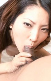 Asian Mom  Public - SAYA Asian has cans roughly treated and licks two hard penises