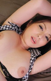 Milf Japanese Feet - Araki Hitomi Asian busty has vagina filled with dick and dildo