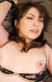 Japanese Mom Threesome - Hitomi Araki Asian is fucked with dildo and rides cock till cums
