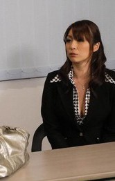 Milf Asian Lesbians - Hitomi Araki Asian is fucked with dildo and rides cock till cums