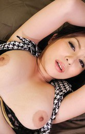 Japanese Mom  Public - Hitomi Araki Asian is fucked with dildo and rides cock till cums