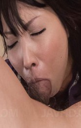 Japanese Mom Feet - Chihiro Kitagawa Asian with hot behind sucks hard boner so well