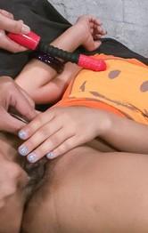 Asian Shaved Milf Porn - Juri Sawaki Asian has juicy peach fingered and under vibrators