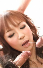 Asian Milf Lingerie Porn - Misa Kikouden Asian with oiled curves sucks dicks and rides dildo