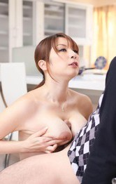 Milf Asian Big Tits - Araki Hitomi Asian sucks tool till can feel the taste of the cum