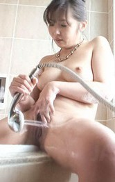 Asian Mom Creampie - Haruka Oosawa Asian has pussy under shower till comes in bathtub