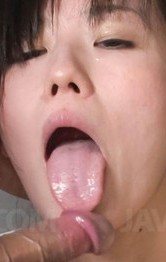 Asian Mom Bikini - Manami Komukai Asian shows hot curves and sucks tool in bathtub