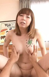 Asian Milf Facial Porn - Minami Kitagawa Asian gets finger in shaved pussy and rides tool