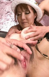 Asian Milf Threesome Porn - Yuna Hirose Asian with hot ass is screwed after sucking shlong