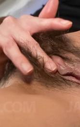 Asian Milf Handjob Porn - Yuna Hirose Asian shows naughty ass, rubs clit and sucks boner