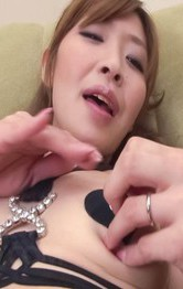 Asian Mom Hardcore - Koda Riri Asian horny rubs her poonanie and plays with nipples