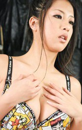 Hot Asian Mom Porn Models - Satomi Suzuki Asian sucks tow dicks and plays with her boobies