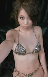 Japanese Mom Bondage - Saki Ootsuka Asian has fingers and vibrator on and in fish taco