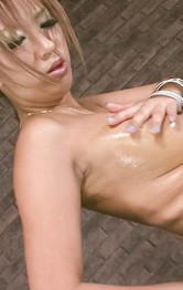 Milf Asian Cosplay - Hina Maeda Asian with oiled leering body rubs nooky with cloth