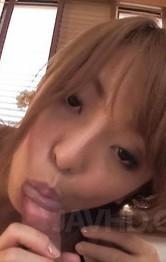 Asian Milf Facial Porn - Sayaka Fukuyama Asian sucks penis so well and gets cum on palms