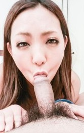 Asian Milf Blowjob Porn - Hikari licks cock like ice cream after is nailed in shaved twat