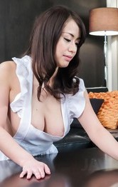 Milf Asian Hardcore - Kaede Niiyama busty in apron has cunt licked in 69 and fucked