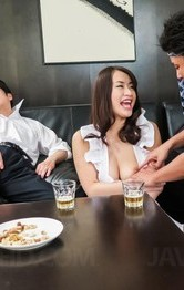 Milf Japanese Fingering - Kaede Niiyama busty in apron has cunt licked in 69 and fucked