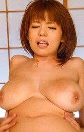 Milf Japanese Models - Airu Oshima has hairy twat and huge assets touched by horny dudes
