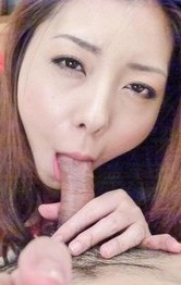 Japanese Mom  Tit Fuck - Maki Mizusawa with body in curves gets cum from sucked phallus