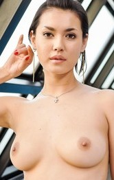 Japanese Mom  Tit Fuck - Maria Ozawa with pierced tongue is fingered in hairy fish taco