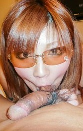 Milf Asian Bikini - Mariko Asian nymph plays with tongue on balls and on phallus