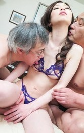 Milf Asian Feet - Misaki Yoshimura has cum in crack after getting penises in holes