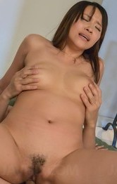 Asian Shaved Mom - Saki Sudou Asian has mouth and fingered snatch filled with tools