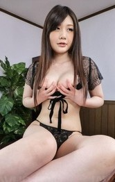 Asian Mom Porn Models - Rie Tachikawa Asian exposes her huge jugs and licks two woodies