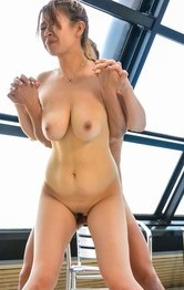 Asian Mature Milf Porn - Suzuna Komiya busty sucks dong, is fingered and fucked at pool