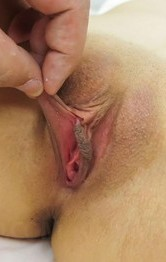 Asian Milf Hardcore Porn - Ruri Okino Asian gets phallus between dark and pinched labia