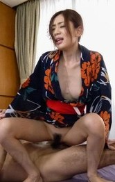 Japanese Mom Outdoor - Kaori Maeda Asian in kimono sucks dicks and is nailed in vagina